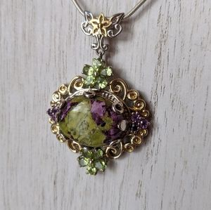 Jewelry - Tasmanian Stitchite, Peridot, & Amethyst Necklace